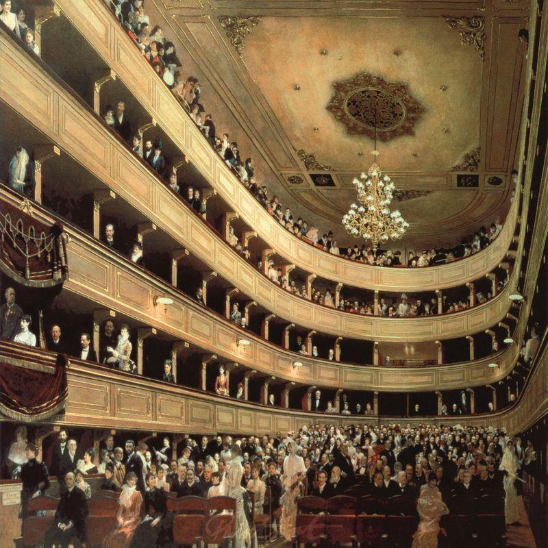 Zuschauerraum Burgtheater Wien Klimt Gustav