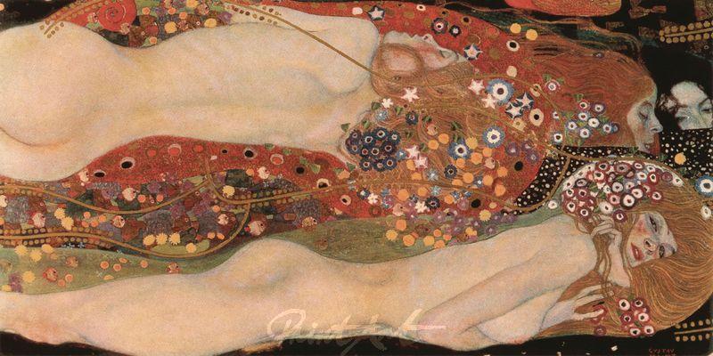 Wasserschlangen II Klimt Gustav