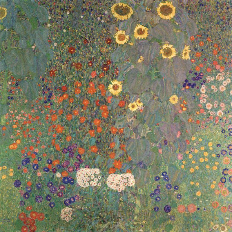 Bauerngarten mit Sonnenblumen Klimt Gustav