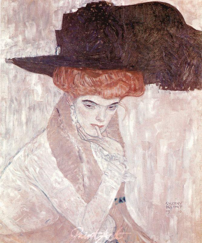 Der schwarze Federhut Klimt Gustav