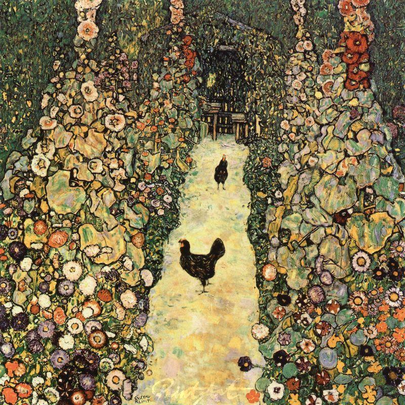Gartenweg mit Hühnern Klimt Gustav