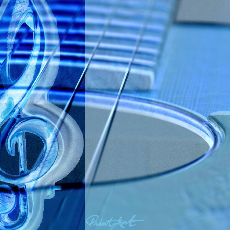 Gitarre Abstrakt Musikinstrumente