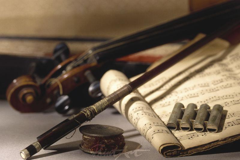 Stilleben/Geige Musikinstrumente