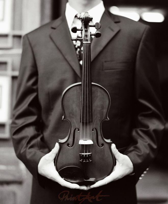 Geige S/W Musikinstrumente