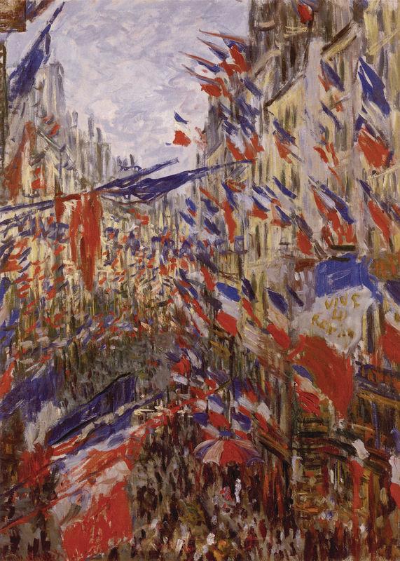 Die Rue Saint-Denis, Fest des 30. Juni 1878 Monet Claude