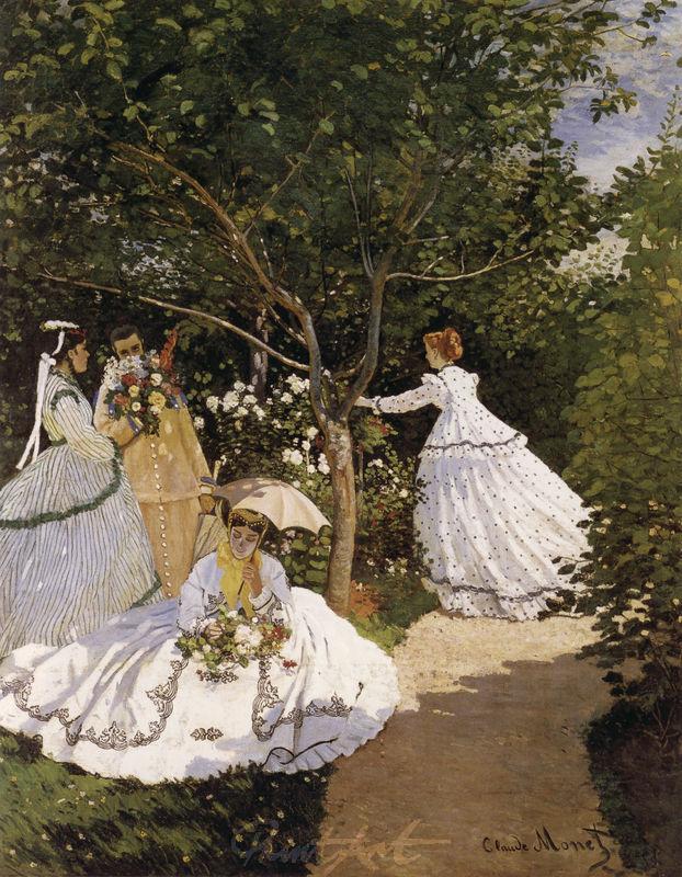 Frauen im Garten Monet Claude