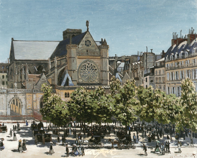 Die Kirche Saint-Germain-l'Auxerrois Monet Claude