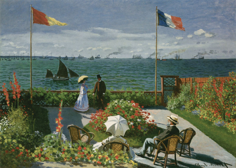 Die Terrasse am Meeresufer von Sainte-Adresse Monet Claude