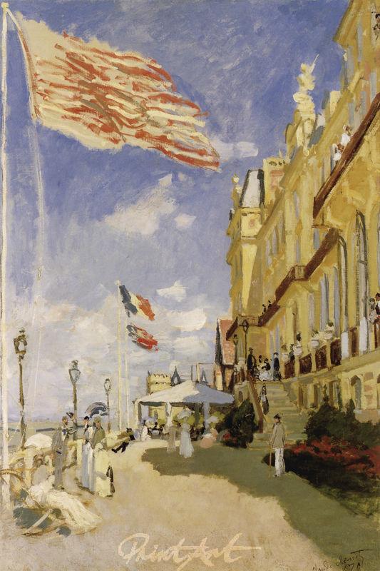 Das Hôtel des Roches Noires in Trouville Monet Claude