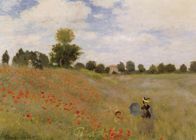 Mohnfeld bei Argenteuil Monet Claude