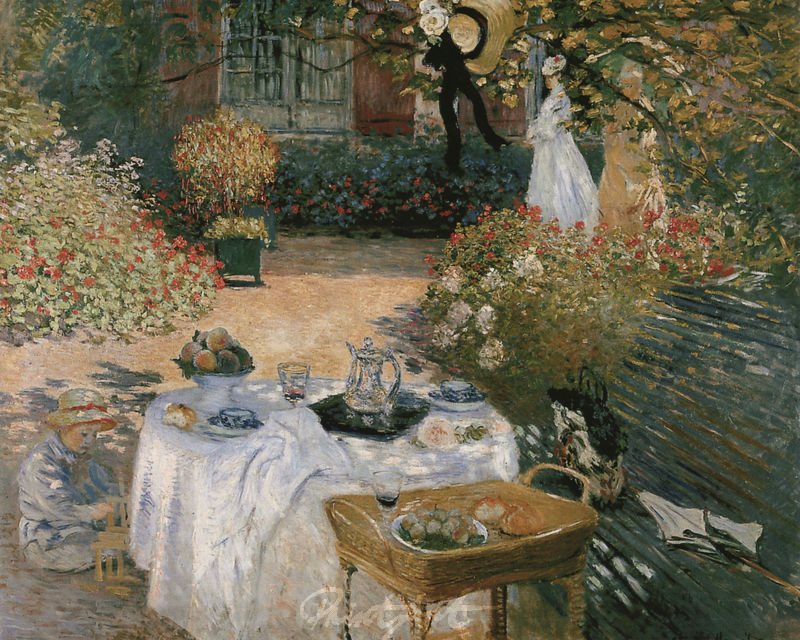 Das Mittagsmahl Monet Claude