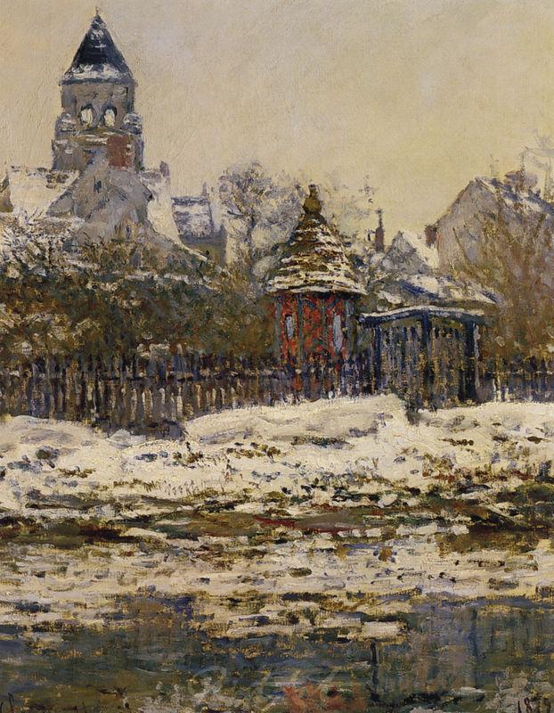 Die Kirche von Vétheuil Monet Claude