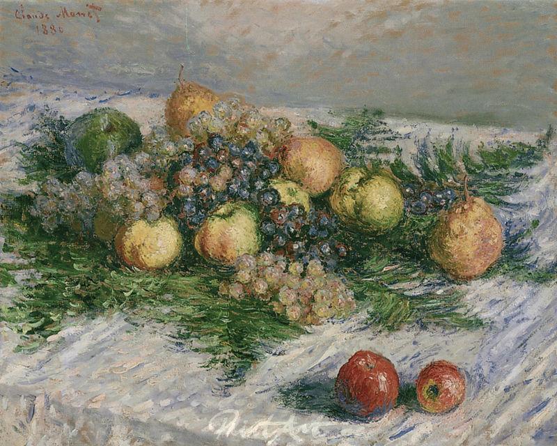 Stilleben mit Birnen und Trauben Monet Claude
