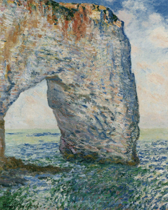 Das Felsentor Manneporte bei Etretat Monet Claude