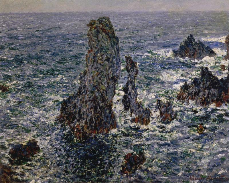 """Die """"Pyramiden"""" bei Port-Coton Monet Claude"""