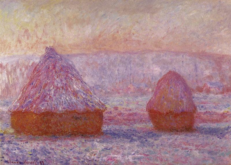 Heuhaufen, Giverny, am Vormittag Monet Claude