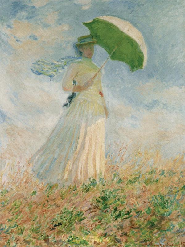 Freilichtstudie, nach rechts gewandte Frau Monet Claude