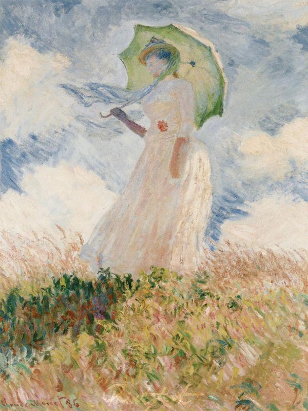 Freilichtstudie, nach links gewandte Frau Monet Claude