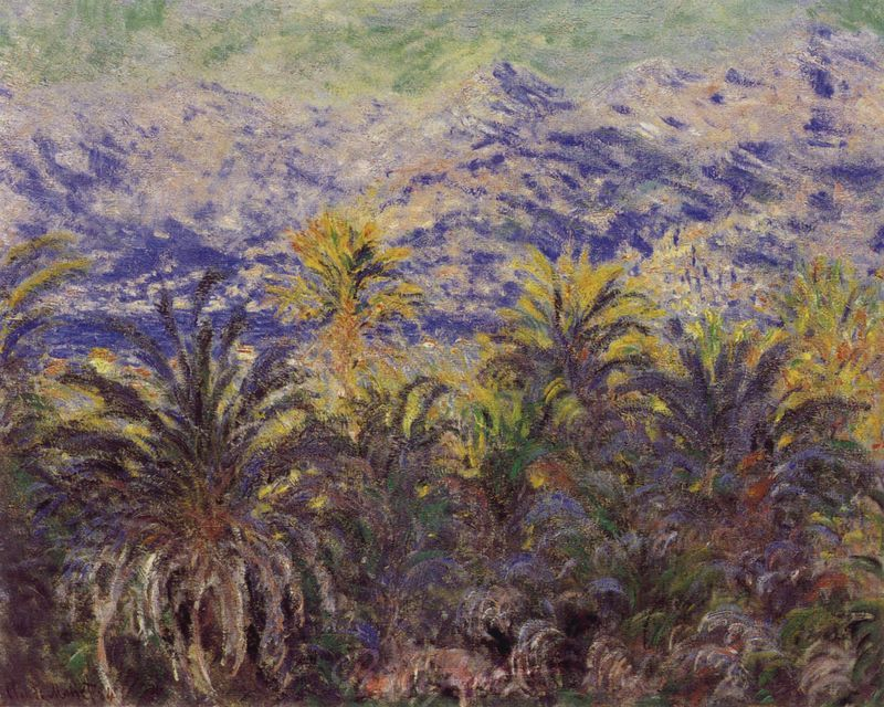 Palmen in Bordighera Monet Claude