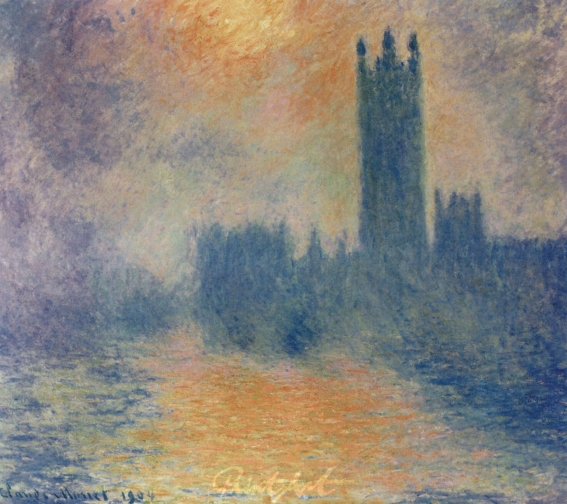 Das Parlament von London Monet Claude