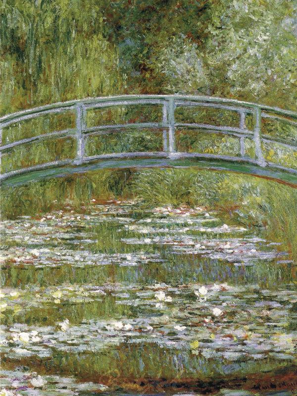 Die japanische Brücke Monet Claude