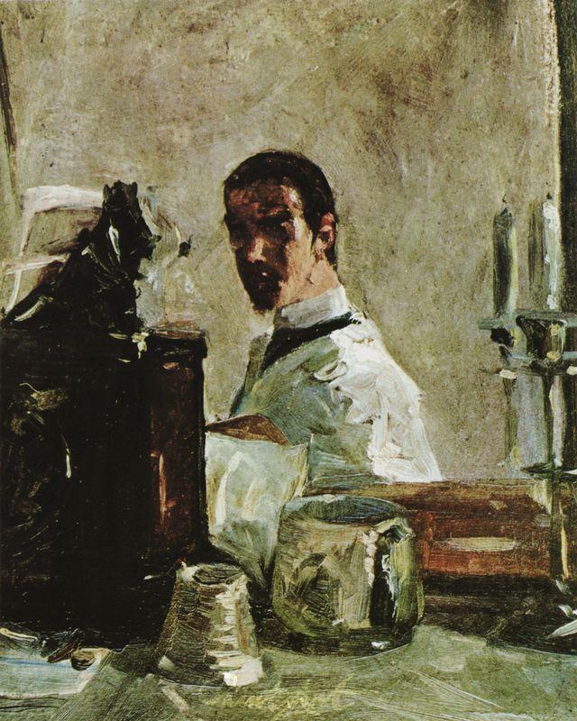 Selbstbildnis vor einem Spiegel Lautrec Toulouse