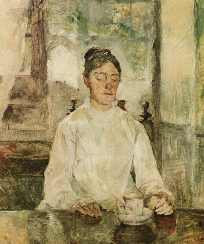 Gräfin Adèle de Toulouse-Lautrec beim Frühstück Lautrec Toulouse