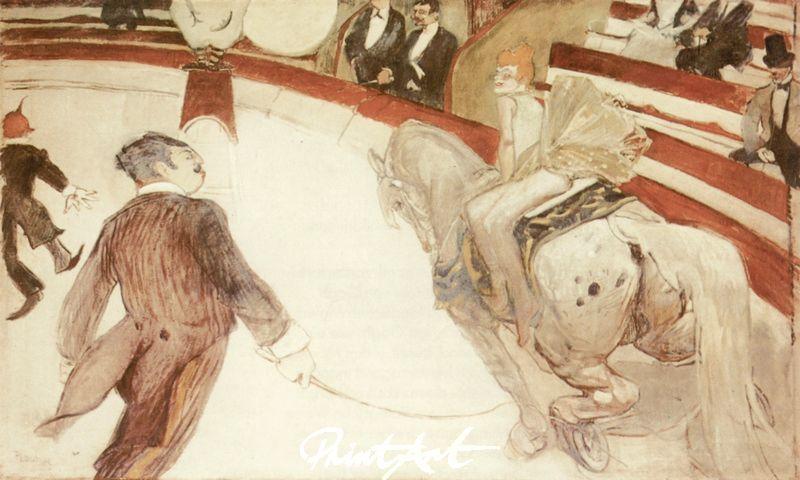 Kunstreiterin im Zirkus Fernando Lautrec Toulouse