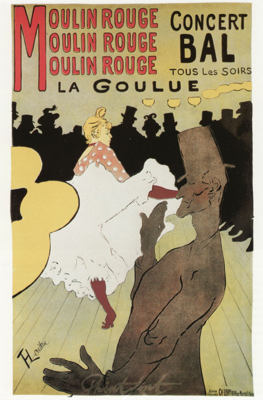 Moulin Rouge: La Goulue Lautrec Toulouse