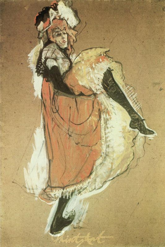 Jane Avril tanzend Lautrec Toulouse