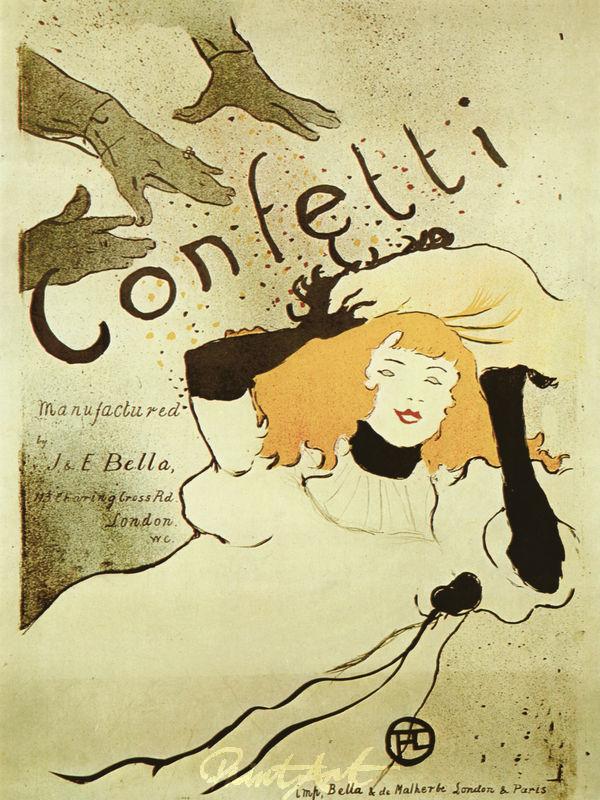 Confetti Lautrec Toulouse