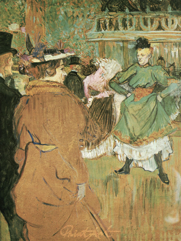 """Im """"Moulin Rouge"""": Beginn der Quadrille Lautrec Toulouse"""