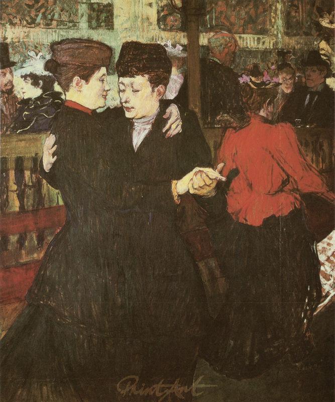 "Im ""Moulin Rouge"": Zwei tanzende Frauen Lautrec Toulouse"
