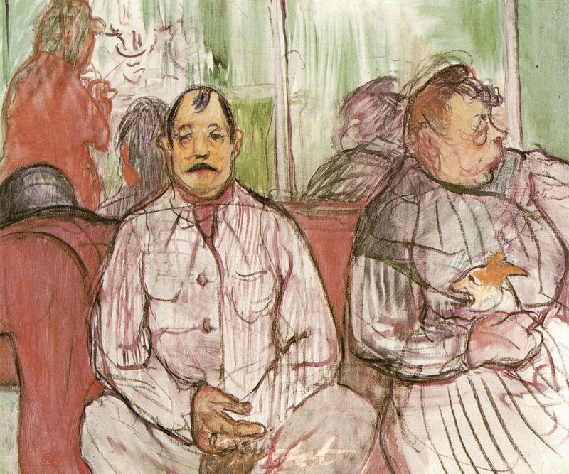 Monsieur, Madame und das Hündchen Lautrec Toulouse