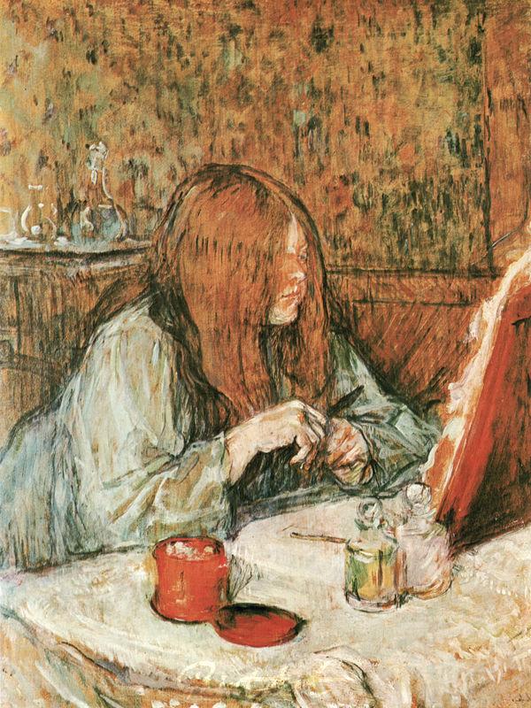 Madame Poupoule bei der Toilette Lautrec Toulouse
