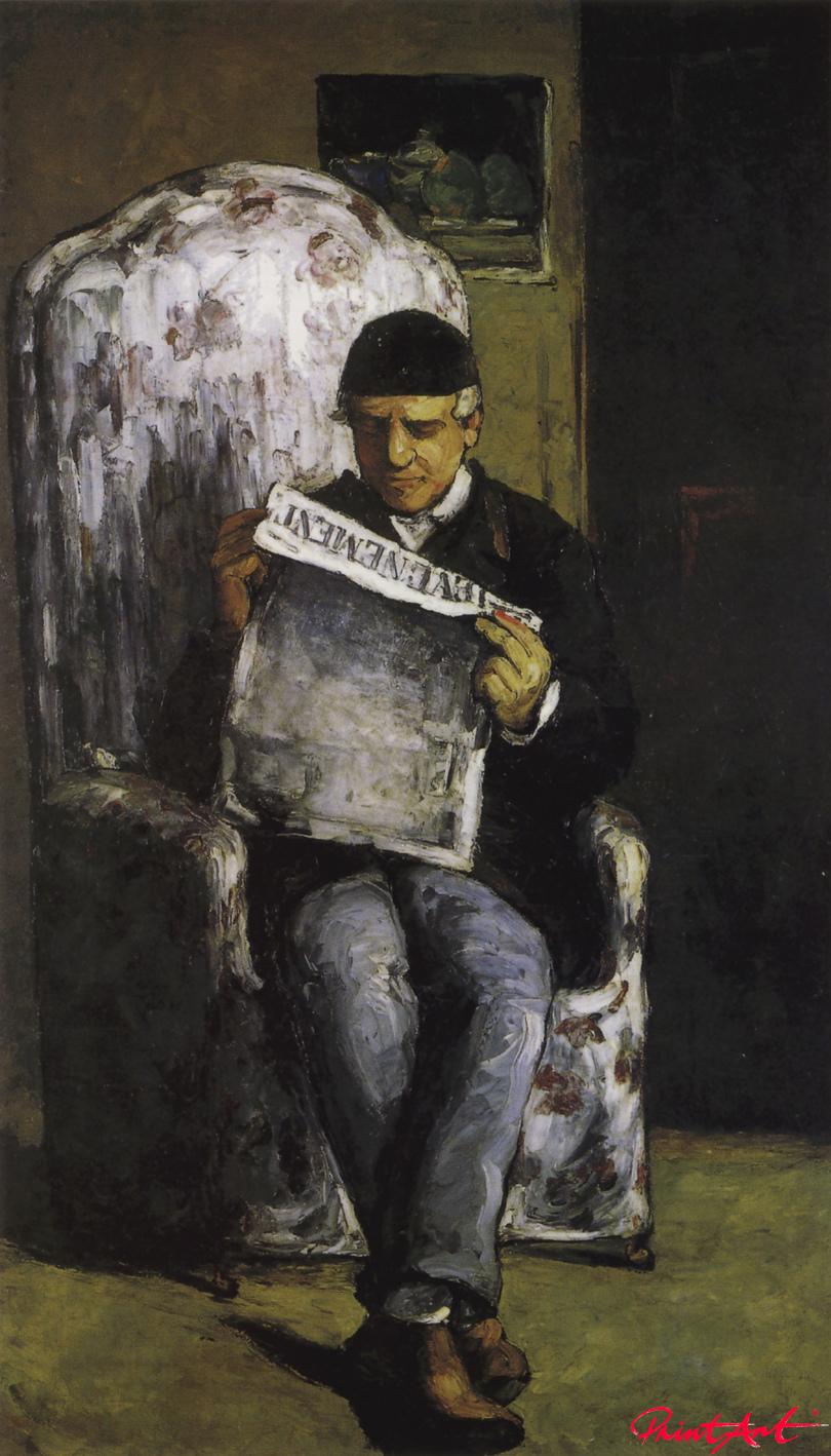 Bildnis Louis-Auguste Cézanne, L'Evénement lesend Cezanne Paul