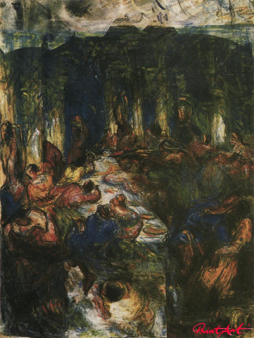 Die Orgie oder das Bankett Cezanne Paul