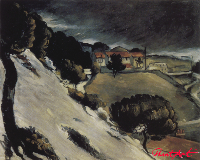 Schneeschmelze in L'Estaque Cezanne Paul