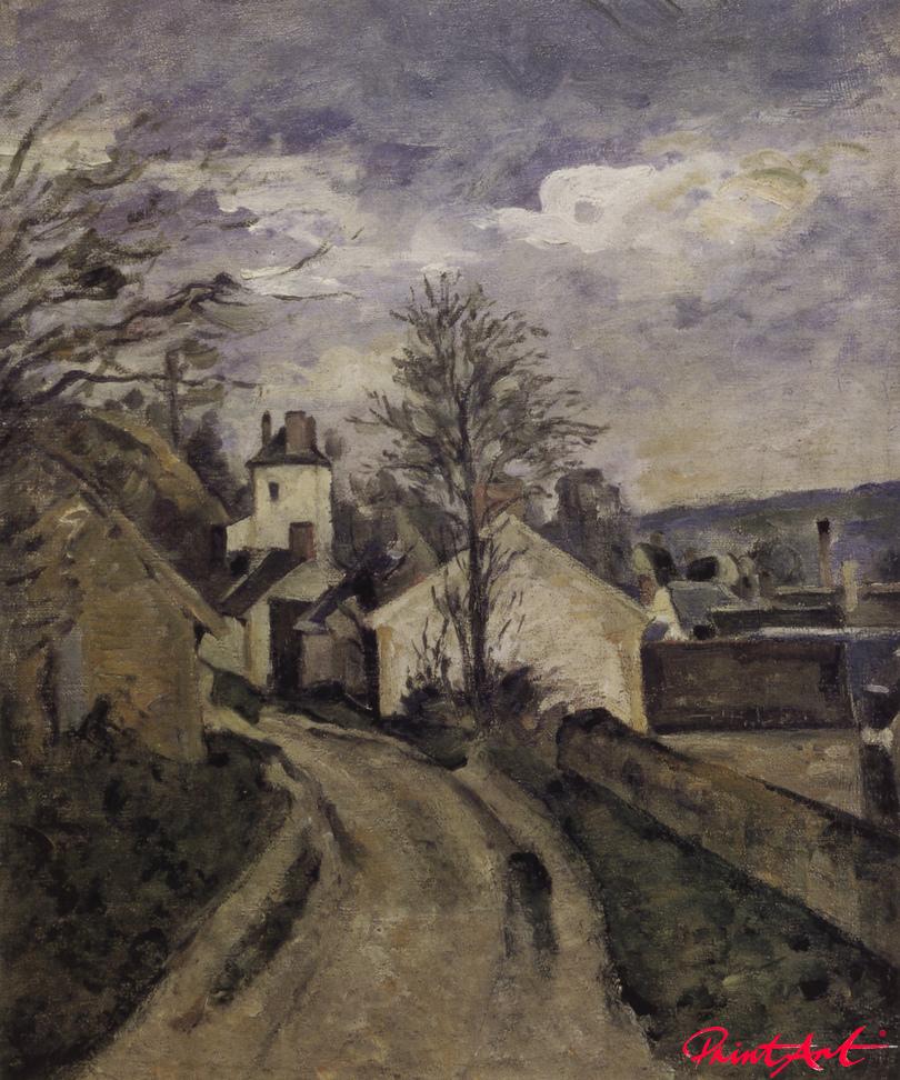 Das Haus des Doktor Gachet in Auvers Cezanne Paul