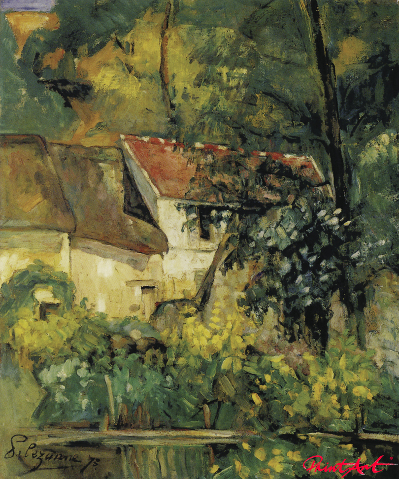 Das Haus von Père Lacroix in Auvers Cezanne Paul