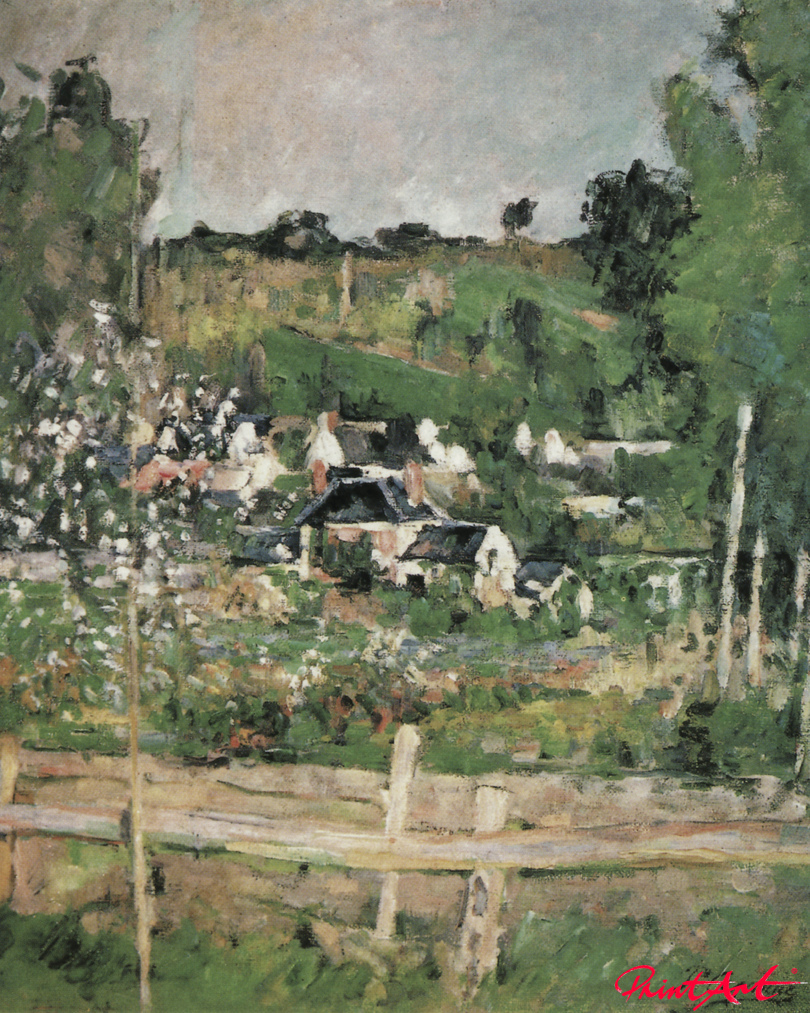 Blick auf Auvers-sur-Oise: Der Zaun Cezanne Paul