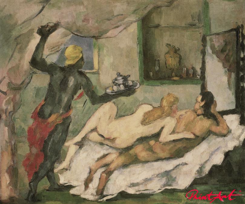 Nachmittag in Neapel (Der Rumpunsch) Cezanne Paul