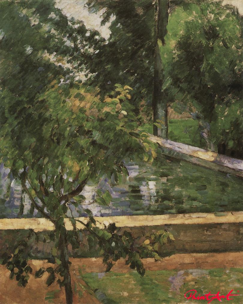 Das Bassin im Park des Jas de Bouffan Cezanne Paul