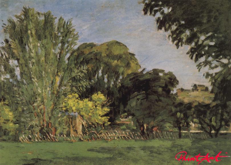 Bäume im Park des Jas de Bouffan Cezanne Paul