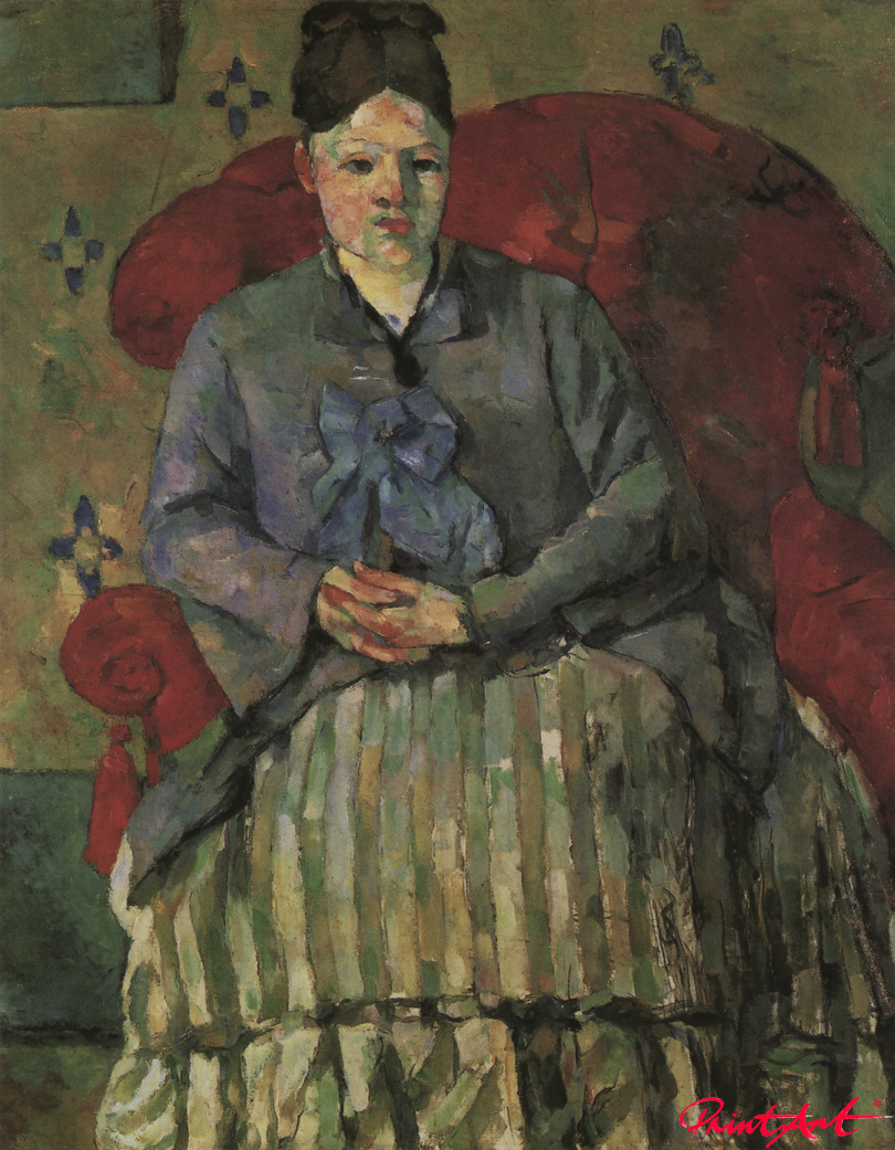 Madame Cézanne in rotem Sessel