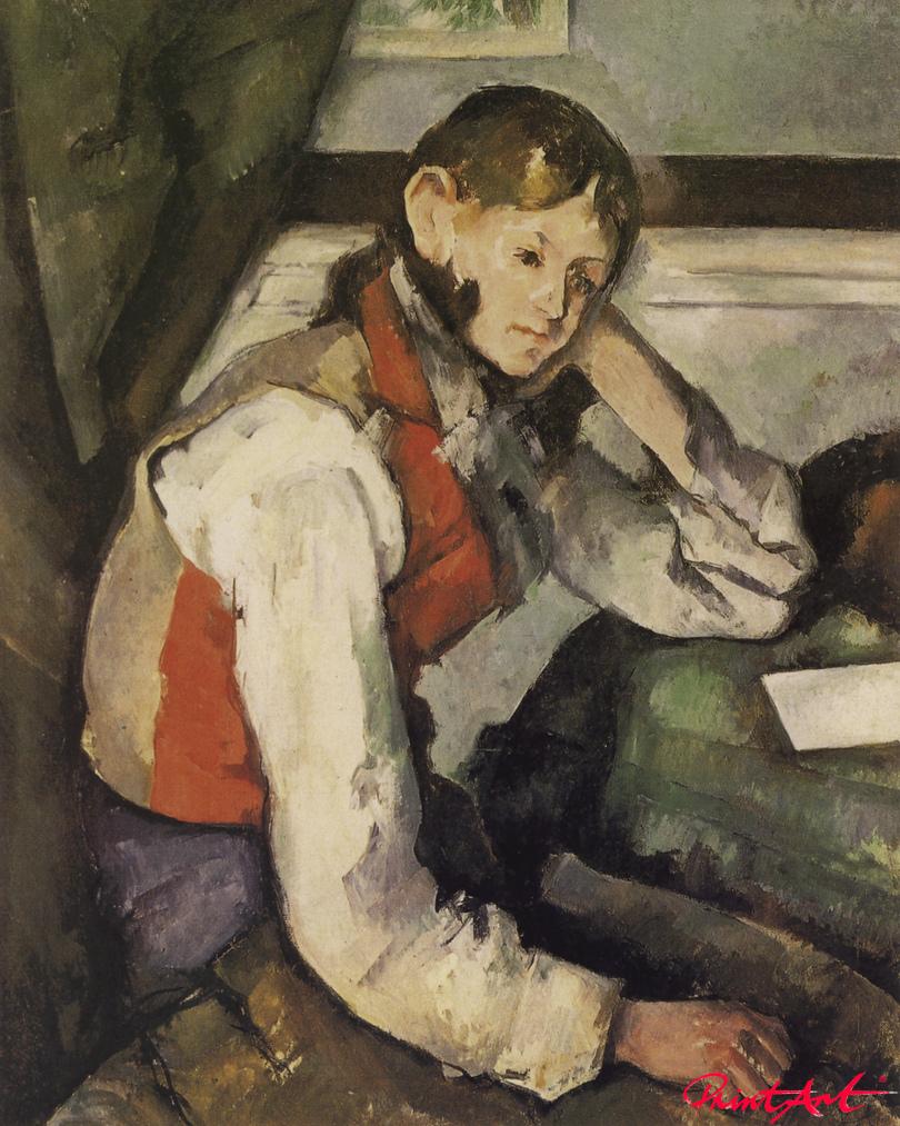 Knabe mit roter Weste Cezanne Paul