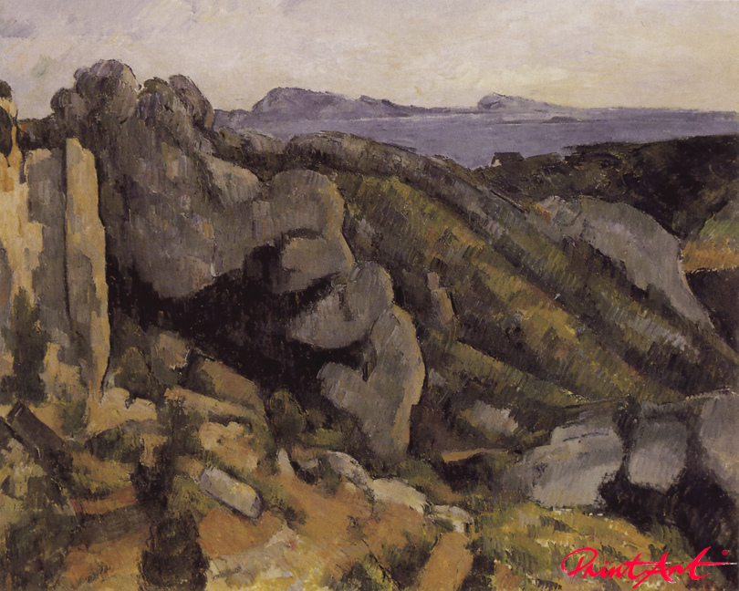 Felslandschaft bei l'Estaque Cezanne Paul