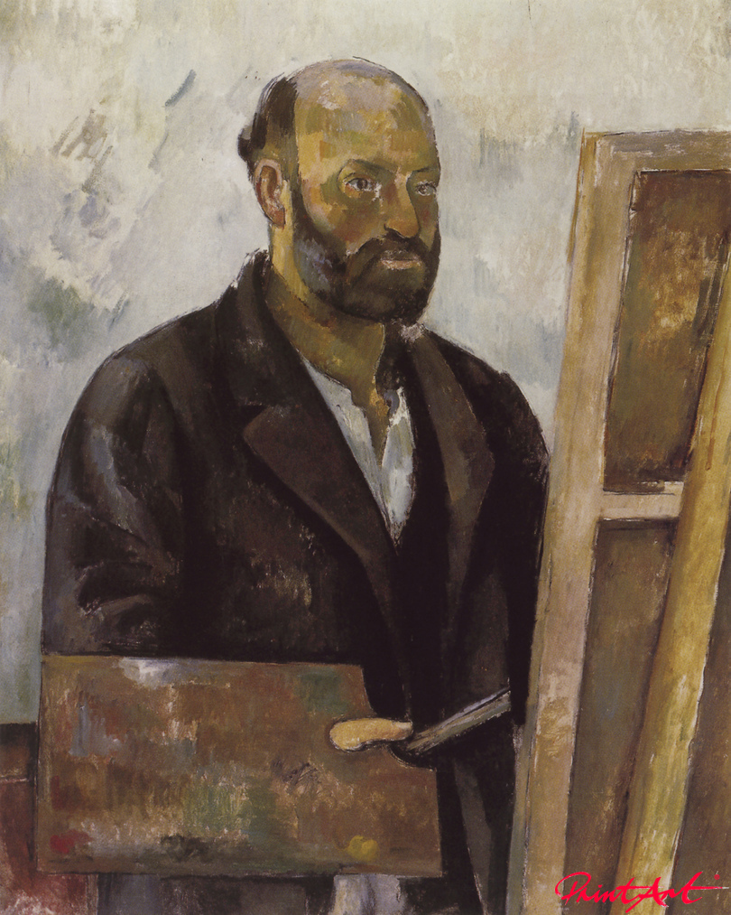 Selbstbildnis mit Palette Cezanne Paul
