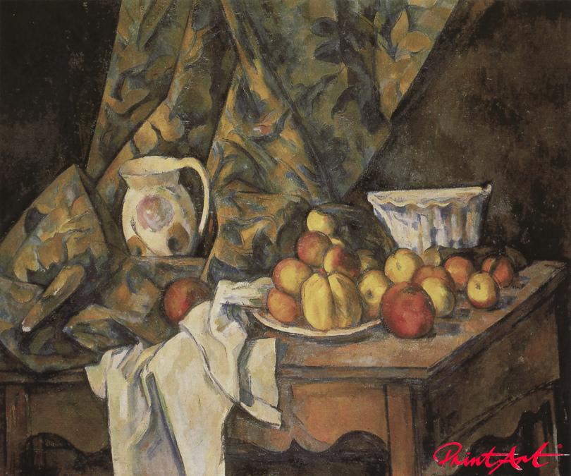 Stilleben mit Äpfeln und Pfirsichen Cezanne Paul