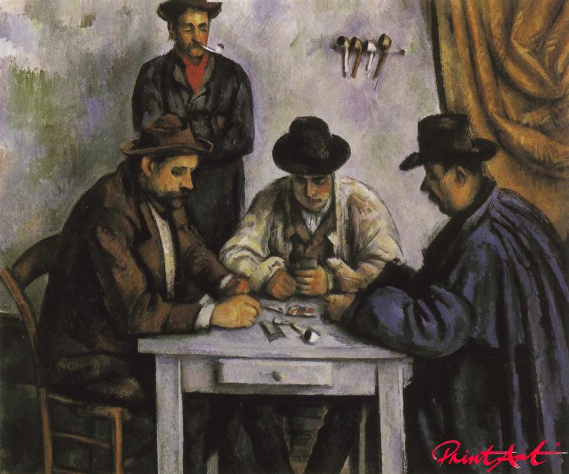 Die Kartenspieler Cezanne Paul